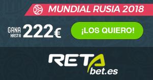 Apuesta y gana hasta 222Euros con Retabet